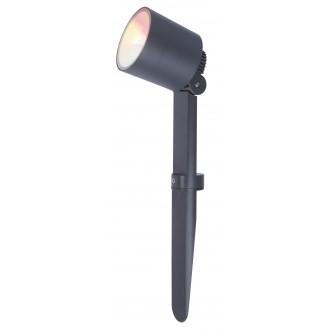LUTEC 6609205118 | WiZ-Explorer Lutec leszúrható WiZ okos világítás szabályozható fényerő, állítható színhőmérséklet, színváltós, elforgatható alkatrészek, WiFi kapcsolat 1x LED 430lm 2200 <-> 6500K IP54 sötét szürke