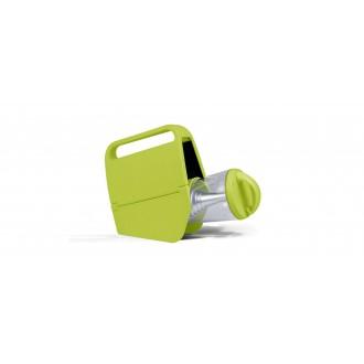 LUTEC 6900302339 | Mini-Butterfly Lutec hordozható, asztali lámpa fényerőszabályzós érintőkapcsoló napelemes/szolár, szabályozható fényerő, USB csatlakozó, telefon töltő, mobil töltő, elforgatható alkatrészek 1x LED 180lm 4000K IP44 zöld, átlátszó