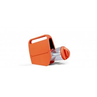 LUTEC 6900302340 | Mini-Butterfly Lutec hordozható, asztali lámpa fényerőszabályzós érintőkapcsoló napelemes/szolár, szabályozható fényerő, USB csatlakozó, telefon töltő, mobil töltő, elforgatható alkatrészek 1x LED 180lm 4000K IP44 narancs, átlátszó