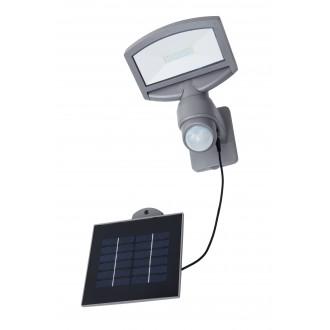 LUTEC 6901601000 | Sunshine Lutec fényvető lámpa mozgásérzékelő, fényérzékelő szenzor - alkonykapcsoló napelemes/szolár, elforgatható alkatrészek 1x LED 360lm 4000K IP44 ezüstszürke, átlátszó