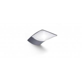 LUTEC 6903401000 | Zerta Lutec falikar lámpa napelemes/szolár 1x LED 200lm 4000K IP44 ezüstszürke, átlátszó
