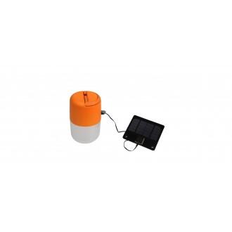 LUTEC 6903503340 | Bump Lutec hordozható, asztali, függeszték lámpa fényerőszabályzós érintőkapcsoló napelemes/szolár, szabályozható fényerő, USB csatlakozó, állítható magasság 1x LED 100lm 4000K IP44 narancs, opál