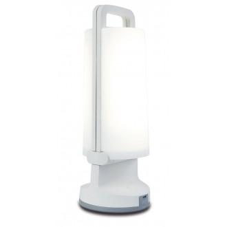 LUTEC 6904101331 | Dragonfly-LU Lutec hordozható, asztali lámpa fényerőszabályzós érintőkapcsoló napelemes/szolár, szabályozható fényerő, USB csatlakozó, elforgatható alkatrészek 1x LED 120lm 4000K IP54 fehér, opál