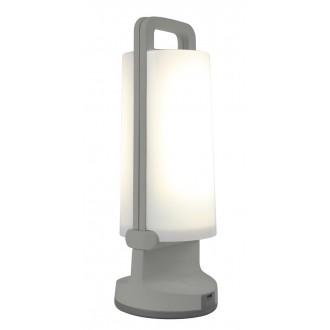 LUTEC 6904101337 | Dragonfly-LU Lutec hordozható, asztali lámpa fényerőszabályzós érintőkapcsoló napelemes/szolár, szabályozható fényerő, USB csatlakozó, elforgatható alkatrészek 1x LED 120lm 4000K IP54 ezüstszürke, opál