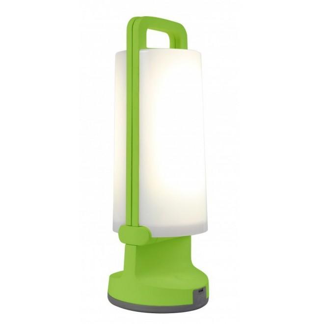 LUTEC 6904101339 | Dragonfly-LU Lutec hordozható, asztali lámpa fényerőszabályzós érintőkapcsoló napelemes/szolár, szabályozható fényerő, USB csatlakozó, elforgatható alkatrészek 1x LED 120lm 4000K IP54 zöld, opál
