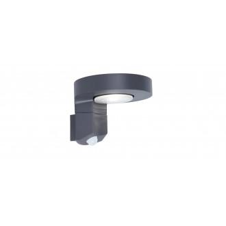 LUTEC 6906702335 | Diso Lutec falikar lámpa mozgásérzékelő, kapcsoló napelemes/szolár, elforgatható alkatrészek 1x LED 200lm 4000K IP44 antracit szürke, átlátszó