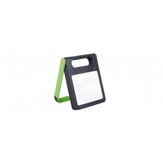 LUTEC 6907701339 | Padlight Lutec hordozható, asztali lámpa fényerőszabályzós érintőkapcsoló napelemes/szolár, szabályozható fényerő, USB csatlakozó, telefon töltő, mobil töltő, elforgatható alkatrészek 1x LED 200lm 4000K IP44 zöld, opál