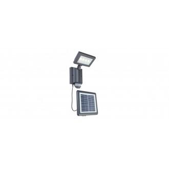 LUTEC 6910101118 | Nevada-LU Lutec fényvető lámpa mozgásérzékelő, fényérzékelő szenzor - alkonykapcsoló napelemes/szolár, elforgatható alkatrészek 1x LED 450lm 4000K IP44 antracit szürke, átlátszó