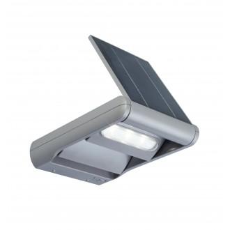 LUTEC 6914402000   Mini-LedspoT Lutec falikar lámpa fényerőszabályzós kapcsoló napelemes/szolár, szabályozható fényerő, elforgatható alkatrészek 1x LED 200lm 4000K IP44 ezüstszürke, átlátszó