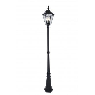 LUTEC 6951301189 | London-LU Lutec álló lámpa 227cm kapcsoló napelemes/szolár 3x E12 300lm 2700K IP44 fekete, átlátszó
