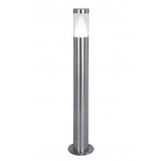 LUTEC 7008201001 | Virgo-LU Lutec álló lámpa 75cm 1x LED 350lm 3000K IP44 nemesacél, rozsdamentes acél, átlátszó