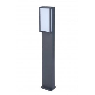 LUTEC 7193001118 | Qubo Lutec álló lámpa 75cm 1x LED 1100lm 3000K IP54 antracit szürke, opál