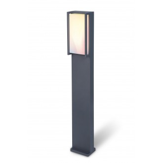 LUTEC 7193002118 | WiZ-Qubo Lutec álló WiZ okos világítás 75cm szabályozható fényerő, állítható színhőmérséklet, színváltós, elforgatható alkatrészek, WiFi kapcsolat 1x LED 1000lm 2200 <-> 6500K IP54 antracit szürke, opál