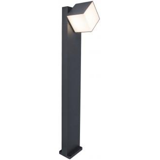LUTEC 7193802118 | Cuba-LU Lutec álló lámpa 75cm elforgatható alkatrészek 1x LED 600lm 3000K IP54 sötétszürke, opál