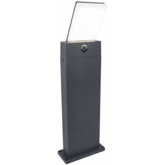 LUTEC 7289001118 | Pano Lutec álló lámpa 63,5cm szabályozható fényerő, állítható színhőmérséklet 1x LED 1200lm 3000 <-> 5000K IP54 sötétszürke, opál