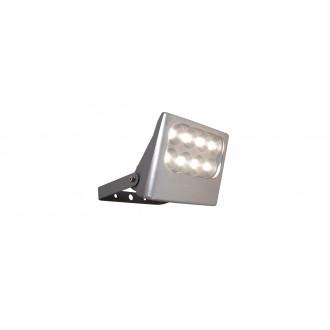 LUTEC 7617001112 | Negara Lutec fényvető lámpa elforgatható alkatrészek 1x LED 1540lm 4000K IP54 ezüstszürke, átlátszó