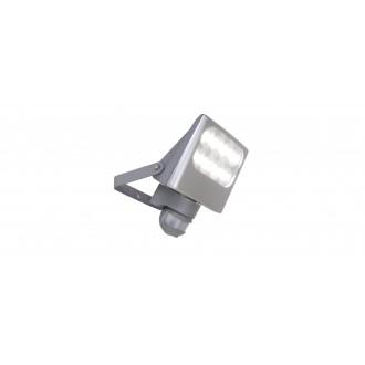 LUTEC 7617002112 | Negara Lutec fényvető lámpa mozgásérzékelő, fényérzékelő szenzor - alkonykapcsoló elforgatható alkatrészek 1x LED 1540lm 4000K IP54 ezüstszürke, átlátszó