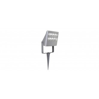 LUTEC 7617003112 | Negara Lutec leszúrható fényvető elforgatható alkatrészek 1x LED 1540lm 4000K IP54 ezüstszürke, átlátszó
