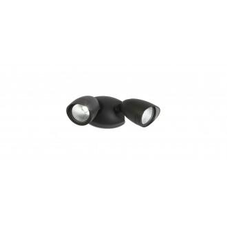 LUTEC 7621902012 | Shrimp Lutec fényvető lámpa elforgatható alkatrészek 2x LED 1380lm 4000K IP54 fekete, átlátszó