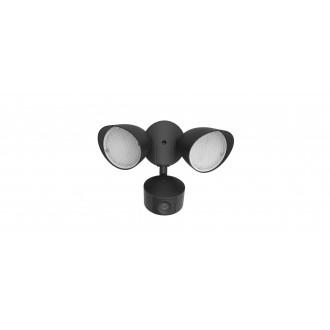 LUTEC 7622206012 | Camera_Light-Draco Lutec kamerás lámpa fényvető mozgásérzékelő, fényérzékelő szenzor - alkonykapcsoló hangszóró, mikrofon, szabályozható fényerő, elforgatható alkatrészek, WiFi kapcsolat 1x LED 1200lm 5000K IP54 fekete, áttetsző