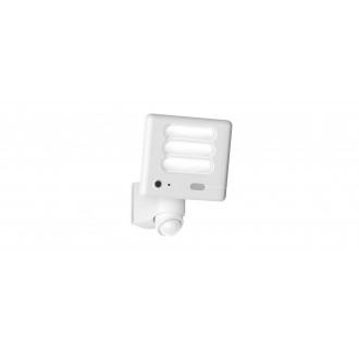 LUTEC 7625501053 | Secury_Light-Esa Lutec kamerás lámpa fényvető mozgásérzékelő, fényérzékelő szenzor - alkonykapcsoló hangszóró, mikrofon, szabályozható fényerő, elforgatható alkatrészek, WiFi kapcsolat 1x LED 1530lm 5000K IP54 fehér, opál