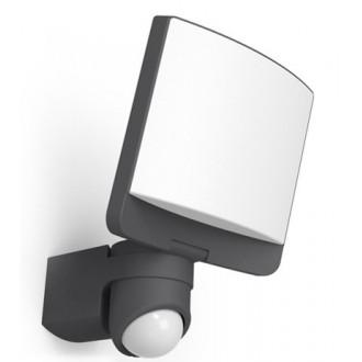 LUTEC 7625601345 | Sunshine Lutec fényvető lámpa mozgásérzékelő, fényérzékelő szenzor - alkonykapcsoló elforgatható alkatrészek 1x LED 1200lm 5000K IP44 antracit szürke, opál