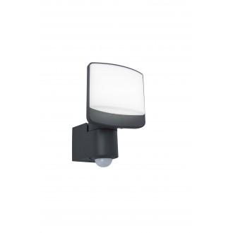 LUTEC 7625701345 | Sunshine Lutec fényvető lámpa mozgásérzékelő, fényérzékelő szenzor - alkonykapcsoló elforgatható alkatrészek 1x LED 800lm 5000K IP44 antracit szürke, opál