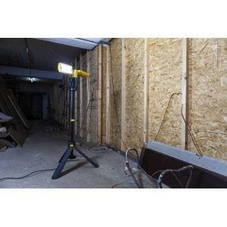 LUTEC 7629001341 | Peri-LU Lutec hordozható fényvető elforgatható alkatrészek, állítható magasság, vezetékkel, villásdugóval elátott 2x LED 3200lm 5000K IP54 antracit szürke, sárga, savmart