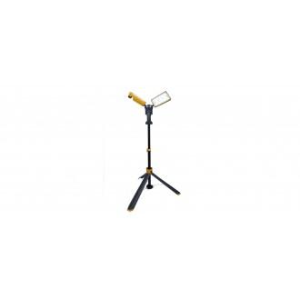 LUTEC 7629002426 | Peri-LU Lutec hordozható fényvető elforgatható alkatrészek, állítható magasság, vezetékkel, villásdugóval elátott 2x LED 7000lm 5000K IP54 sötétszürke, sárga, savmart