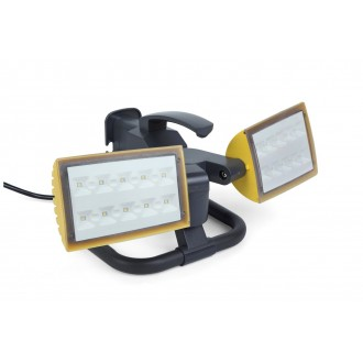 LUTEC 7629301341 | Peri-LU Lutec hordozható fényvető elforgatható alkatrészek, vezetékkel, villásdugóval elátott 2x LED 2000lm 5000K IP54 antracit szürke, átlátszó
