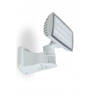 LUTEC 7629501331 | Peri-LU Lutec fényvető lámpa mozgásérzékelő, fényérzékelő szenzor - alkonykapcsoló elforgatható alkatrészek 1x LED 1710lm 5000K IP54 fehér, átlátszó