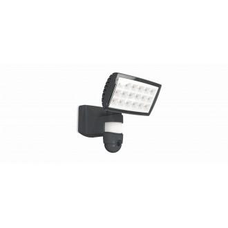 LUTEC 7629502335 | Secury_Light-Peri Lutec kamerás lámpa fényvető mozgásérzékelő, fényérzékelő szenzor - alkonykapcsoló hangszóró, mikrofon, szabályozható fényerő, elforgatható alkatrészek, WiFi kapcsolat 1x LED 2120lm 5000K IP44 antracit szürke, átlátszó