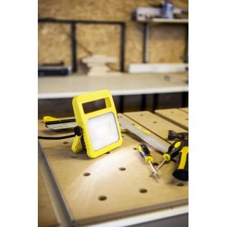 LUTEC 7629701341 | Utin Lutec hordozható fényvető elforgatható alkatrészek, vezetékkel, villásdugóval elátott 1x LED 1040lm 5000K IP54 sárga, átlátszó