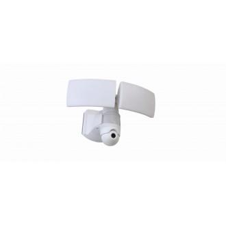 LUTEC 7632401053 | Secury_Light-Libra Lutec kamerás lámpa fényvető mozgásérzékelő, fényérzékelő szenzor - alkonykapcsoló hangszóró, mikrofon, szabályozható fényerő, elforgatható alkatrészek, WiFi kapcsolat 1x LED 3000lm 5000K IP44 fehér, opál