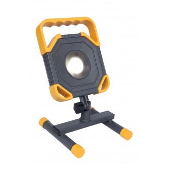 LUTEC 7633301118 | Modo-LU Lutec hordozható fényvető elforgatható alkatrészek, vezetékkel, villásdugóval elátott 1x LED 1500lm 5000K IP54 antracit szürke, sárga