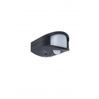 LUTEC 9701501330 | Lutec mozgásérzékelő PIR 270° fényérzékelő szenzor - alkonykapcsoló IP44 fekete
