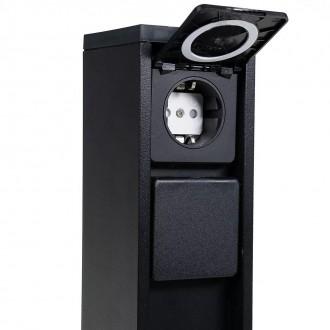LUTEC 9702201012 | Mains Lutec konnektoroszlop lámpa dugaljjal ellátott IP54 matt fekete