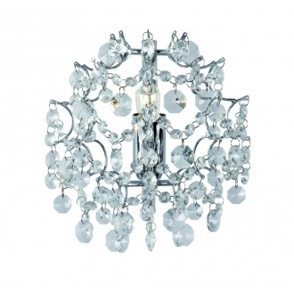 MARKSLOJD 102335 | Rosendal Markslojd falikar lámpa 1x E14 króm, kristály