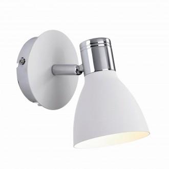 MARKSLOJD 103064 | Markslojd spot lámpa vezeték kapcsoló elforgatható alkatrészek 1x E14 króm, fehér