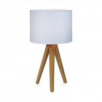 MARKSLOJD 104625 | Kullen Markslojd asztali lámpa 44cm vezeték kapcsoló 1x E14 tölgy, fehér