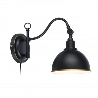 MARKSLOJD 104636 | Ekelund Markslojd falikar lámpa vezeték kapcsoló 1x E27 fekete, arany, fehér
