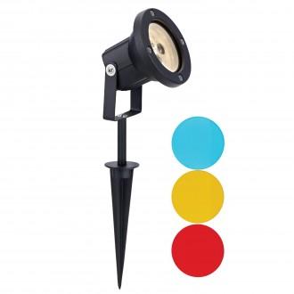 MARKSLOJD 104721 | Tradgard Markslojd leszúrható lámpa elforgatható alkatrészek 1x LED 300lm 3000K IP44 fekete, színes