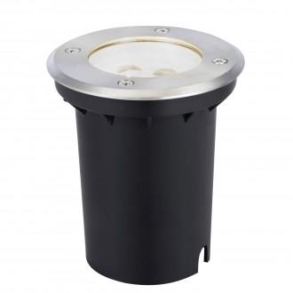 MARKSLOJD 104723 | Tradgard Markslojd beépíthető lámpa Ø110mm 110x110mm 1x LED 300lm 3000K IP67 acél, fekete