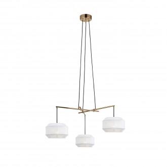 MARKSLOJD 105710 | Corse Markslojd függeszték lámpa 3x E27 arany, fehér, fekete