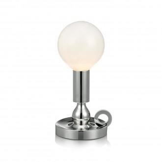 MARKSLOJD 105771 | History Markslojd asztali lámpa 30cm kapcsoló 1x E27 króm, opál