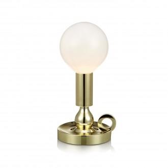 MARKSLOJD 105772 | History Markslojd asztali lámpa 30cm kapcsoló 1x E27 sárgaréz, opál