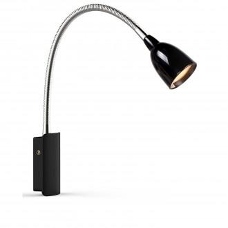 MARKSLOJD 105940 | Tulip Markslojd falikar lámpa kapcsoló flexibilis 1x LED 198lm 3000K króm, fekete