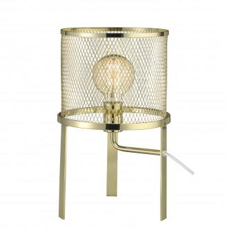 MARKSLOJD 106056 | Grid Markslojd asztali lámpa 41cm vezeték kapcsoló 1x E27 sárgaréz