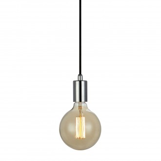 MARKSLOJD 106169 | Sky-MS Markslojd függeszték lámpa vezeték kapcsoló 1x E27 króm, fekete