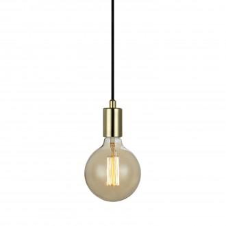 MARKSLOJD 106170 | Sky-MS Markslojd függeszték lámpa vezeték kapcsoló 1x E27 sárgaréz, fekete